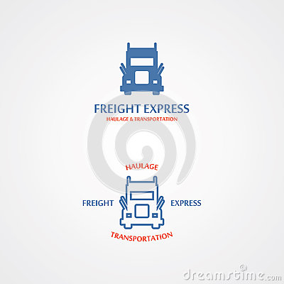 Free Vector Logo With A Set Of Delivery Truck Stock Photography - 48918262