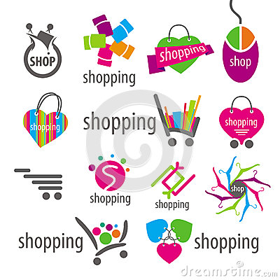 Free Vector Logos And Shopping Discounts Basket Royalty Free Stock Photo - 35489415