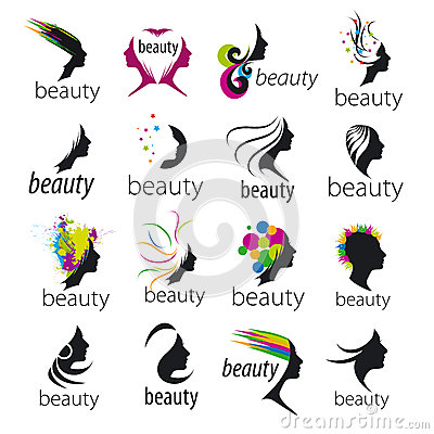 Free Vector Logos Beautiful Female Face Stock Photography - 39405782