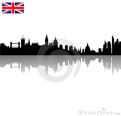 vector London silhouette skyline wi