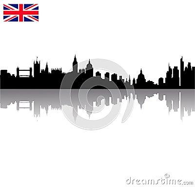 Free Vector London Silhouette Skyline Wi Stock Photos - 12451313