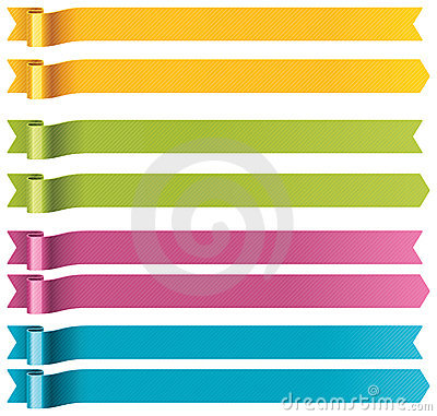 Free Vector Long Ribbons Royalty Free Stock Images - 21927739