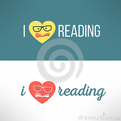 Free Vector Love Reading Banner With Heart And Book In Royalty Free Stock Photography - 54800007