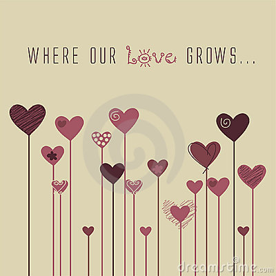 Vector Love Stylized background
