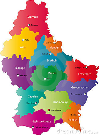 Vector Luxembourg map