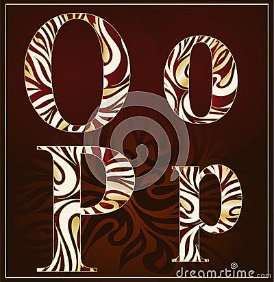 Vector, a luxury alphabet (O, P )