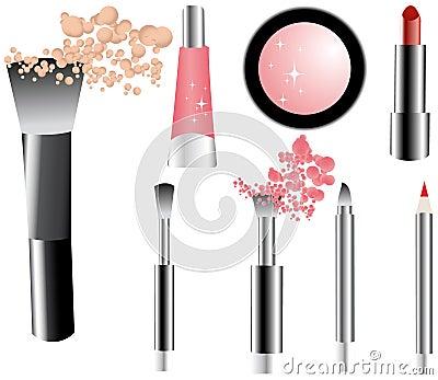 Vector make-up icons set