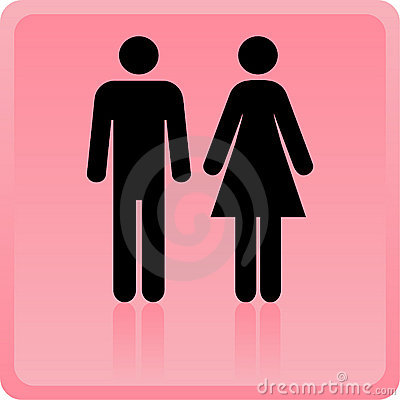 Free Vector Man & Woman Icon Royalty Free Stock Images - 18419509