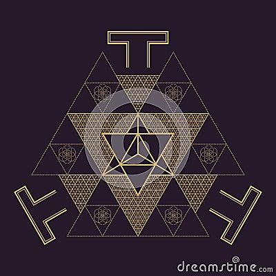 Free Vector Mandala Sacred Geometry Illustration Stock Photos - 81045903
