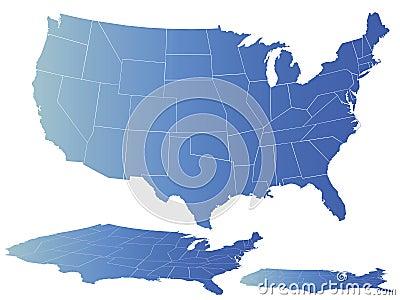 Vector map of america