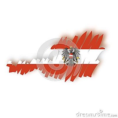 Vector map Austria