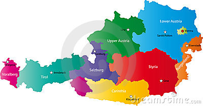 Vector map of Austria