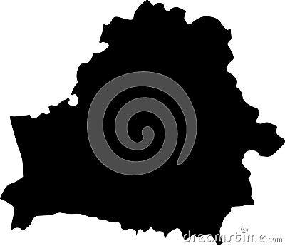 Vector map of belarus