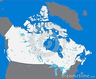 Vector map Canada
