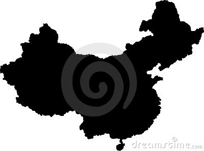 Vector map of china