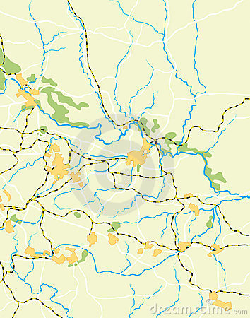 Vector Map of The Country