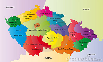 Vector map of Czech Republic