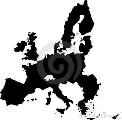 Vector map of european union