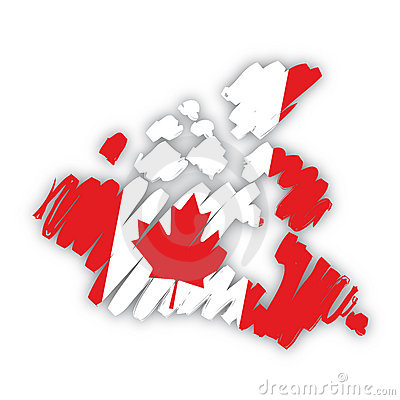 Vector map-flag Canada