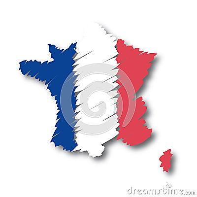 Vector map France