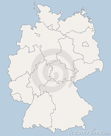 Free Vector Map Of Germany Stock Image - 23590441