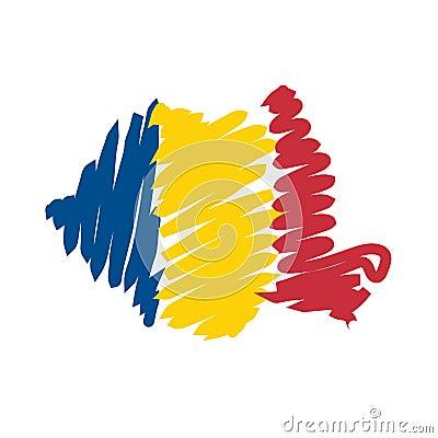 Free Vector Map Romania Royalty Free Stock Photos - 4839648
