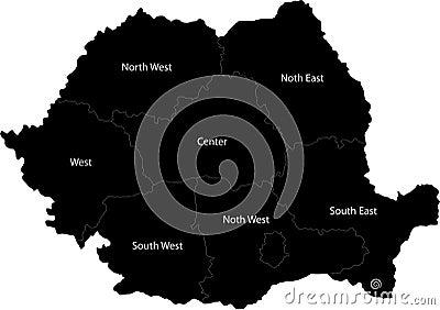 Vector map of Romania
