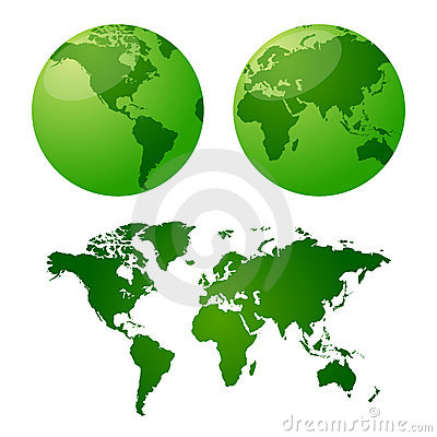 Free Vector Maps Of Earth Stock Photography - 3304612