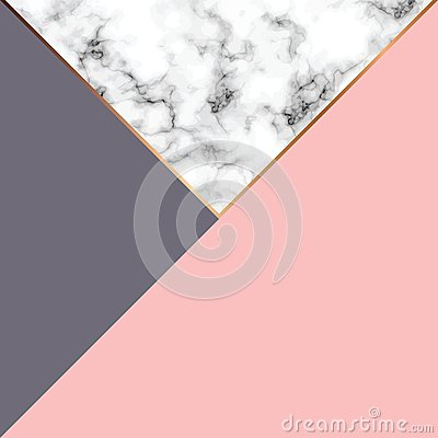 Free Vector Marble Texture Design With Golden Geometric Lines, Black And White Marbling Surface, Modern Luxurious Background Royalty Free Stock Photo - 108911375