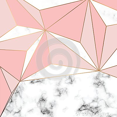 Free Vector Marble Texture Design With Golden Geometric Lines, Black And White Marbling Surface, Modern Luxurious Background Royalty Free Stock Photos - 108945148