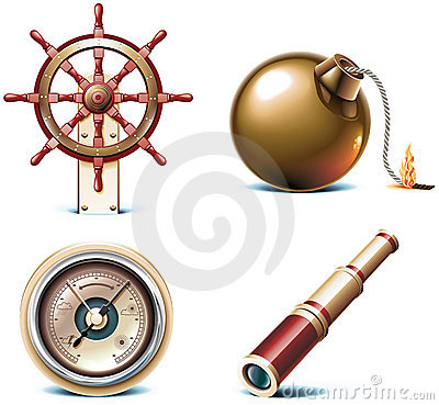 Free Vector Marine Travel Icons. Part 3 Stock Photos - 13637613