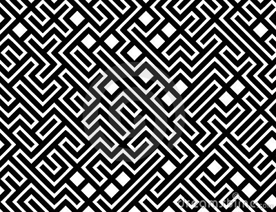 Vector Maze Pattern Background