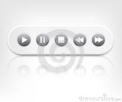 Vector media player interface with reflection