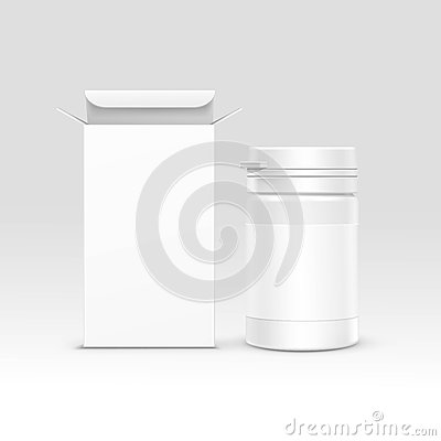 Free Vector Medical Packaging Box And Bottle Stock Image - 61037051
