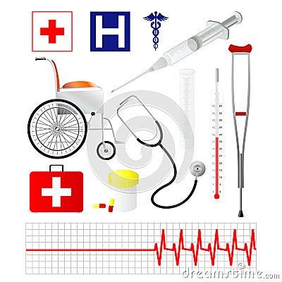Vector Medische pictogrammen