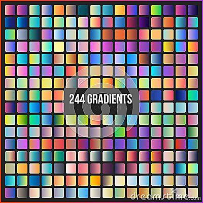 Free Vector Mega Set Of 244 Gradients. Stock Photo - 89051350