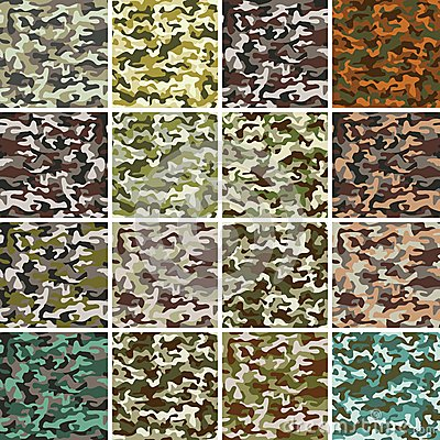 Free Vector Mega Set Of Seamless Camouflage Pattern Stock Photography - 34939172