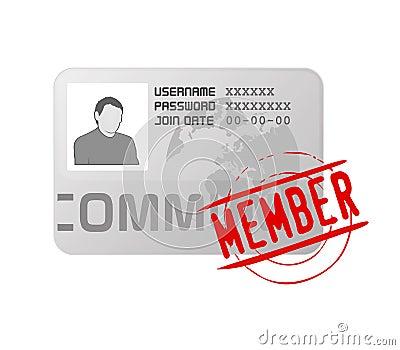 Vector membership profile card icon