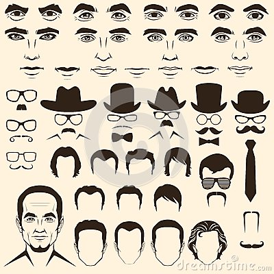 Free Vector Men Head Character Royalty Free Stock Image - 37774446