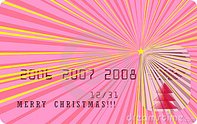 Vector merry christmas card