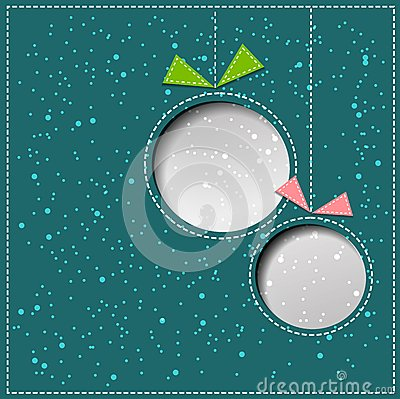 Free Vector Merry Christmas Paper Greeting Card Royalty Free Stock Images - 35299799