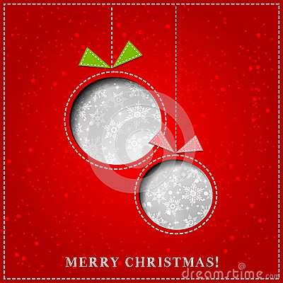 Free Vector Merry Christmas Paper Greeting Card Stock Photo - 35299970