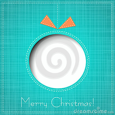 Free Vector Merry Christmas Paper Greeting Card Royalty Free Stock Image - 35305806