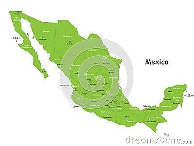 Vector Mexico map