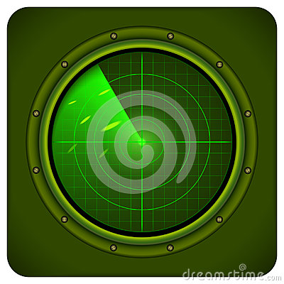 Vector military radar Vector Illustration