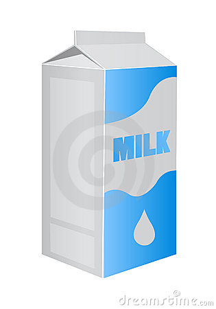Vector milk carton pack