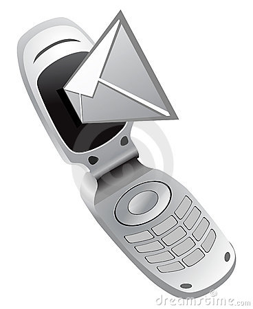 Vector mobile phone with sms