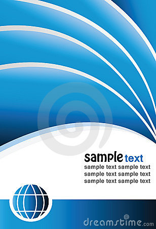 Vector modern blue background with sample text