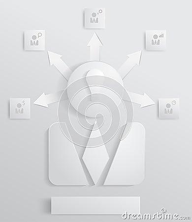 Vector modern business organization chart people i