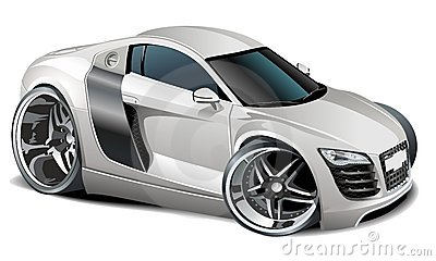 Vector Modern Cartoon Car Available Ai 10 Format Separated By Groups